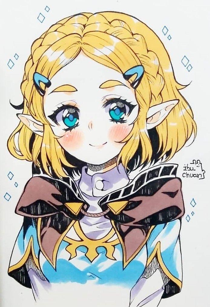 Legend Of Zelda Breath Of The Wild Sequel Art Princess Zelda Botw 2 Ibu Chuan Legend Of Zelda Anime Princess Legend Of Zelda Memes