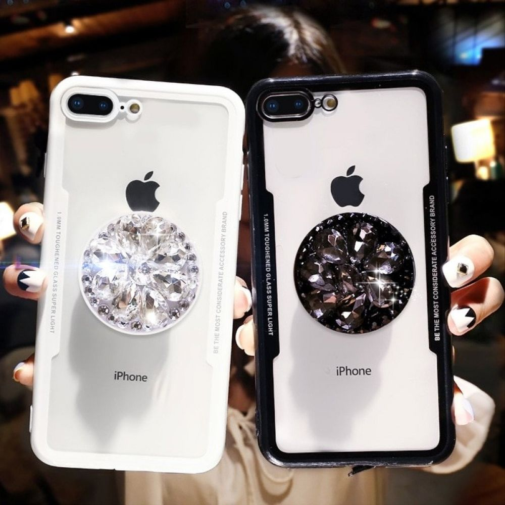 Cute 3d diamond styled soft case for iphone in 2020 pop