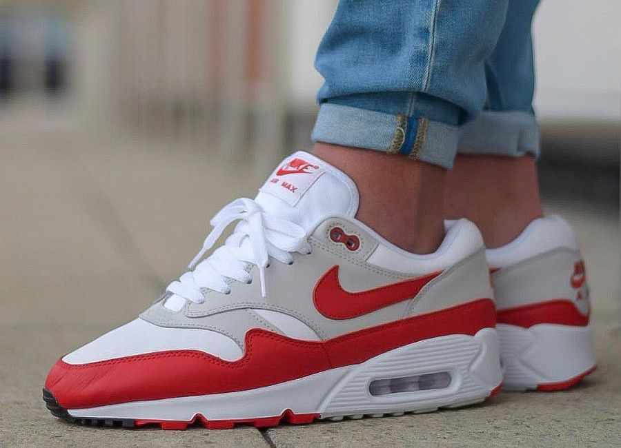 differently new cheap shades of Nike Air Max 90/1 University Red in 2019 | Air max, Nike air ...