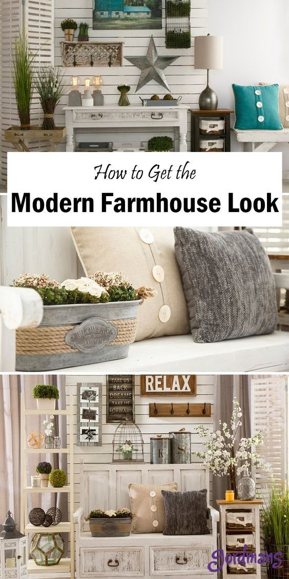 Modern farmhouse, modern decor, modern country, rustic ...