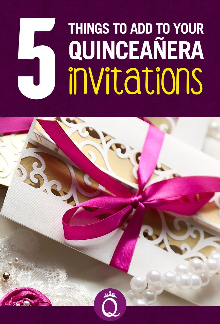 5 Things To Add To Your Quinceanera Invitations Bianca S 15