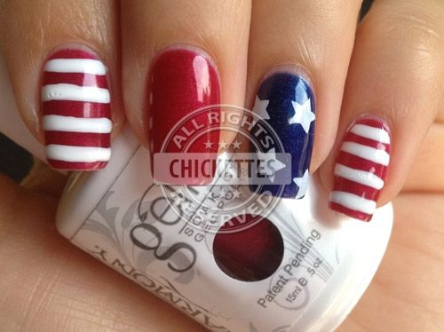 This will be my 4th of July nail design this year! So cute!! - This Will Be My 4th Of July Nail Design This Year! So Cute!! Cool