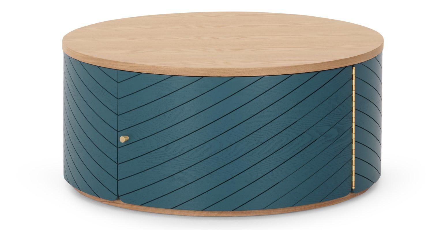 100 Fantastique Concepts Table Basse Bleu Canard