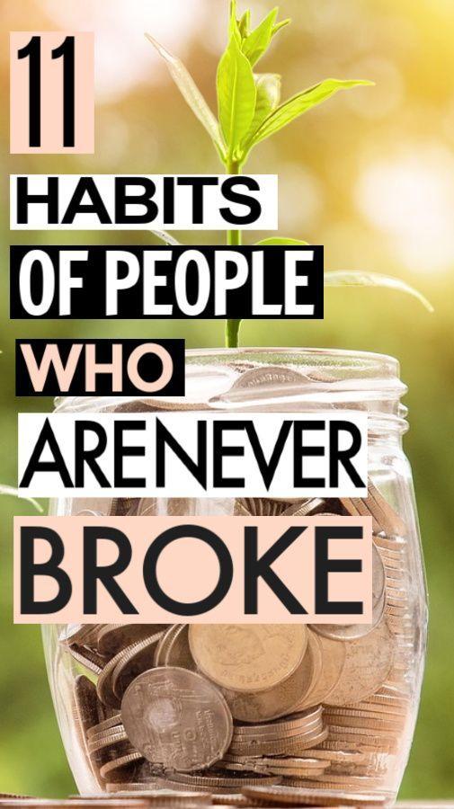 11 Habits Of People Who Always Have Money #savingmoney