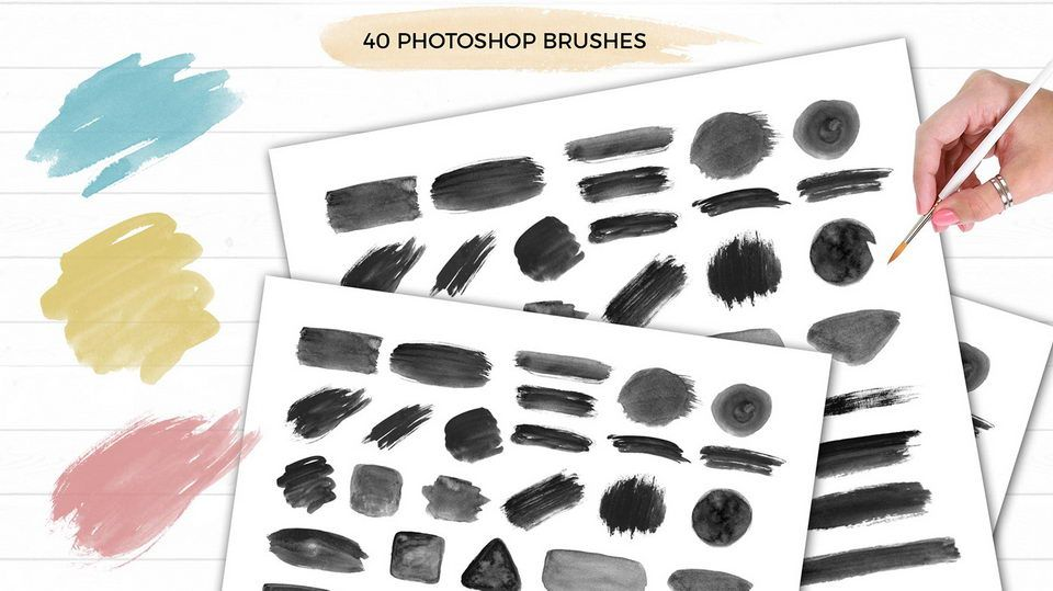 Free Photoshop Watercolor Brushes Watercolor Brushes Photoshop