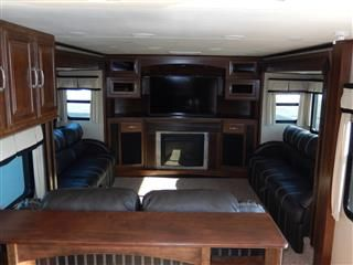 2014 Grand Design Solitude 379 FL, Front Livingroom Floor Plan! Part 85