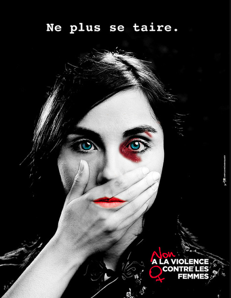 violences contre les femmes des affiches pour ne plus se taire femme de la femme et affiches. Black Bedroom Furniture Sets. Home Design Ideas
