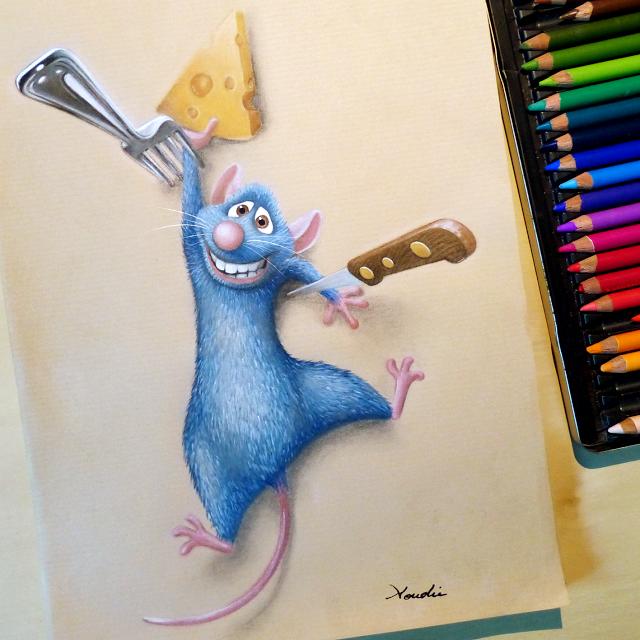 Aoudie remy ratatouille disney en 2019 dibujos de disney dibujos con prismacolor et - Dessin anime ratatouille gratuit ...