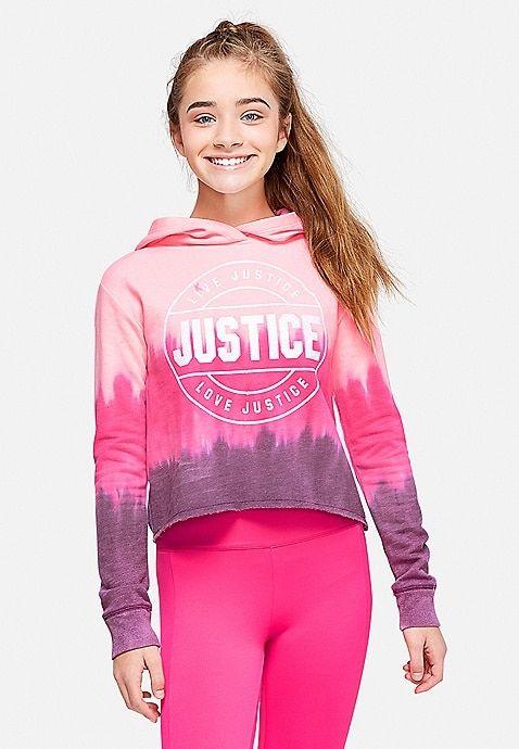 Dip Dye Logo Hoodie Justice Justice Clothing Tween