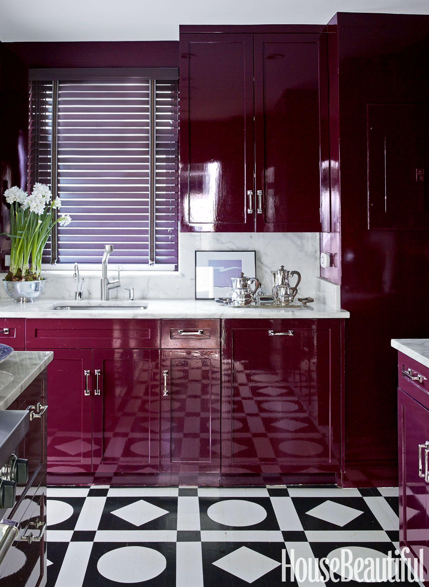 Our Hollandlac Brilliant In A Wine Red Kitchen Designed By Nick