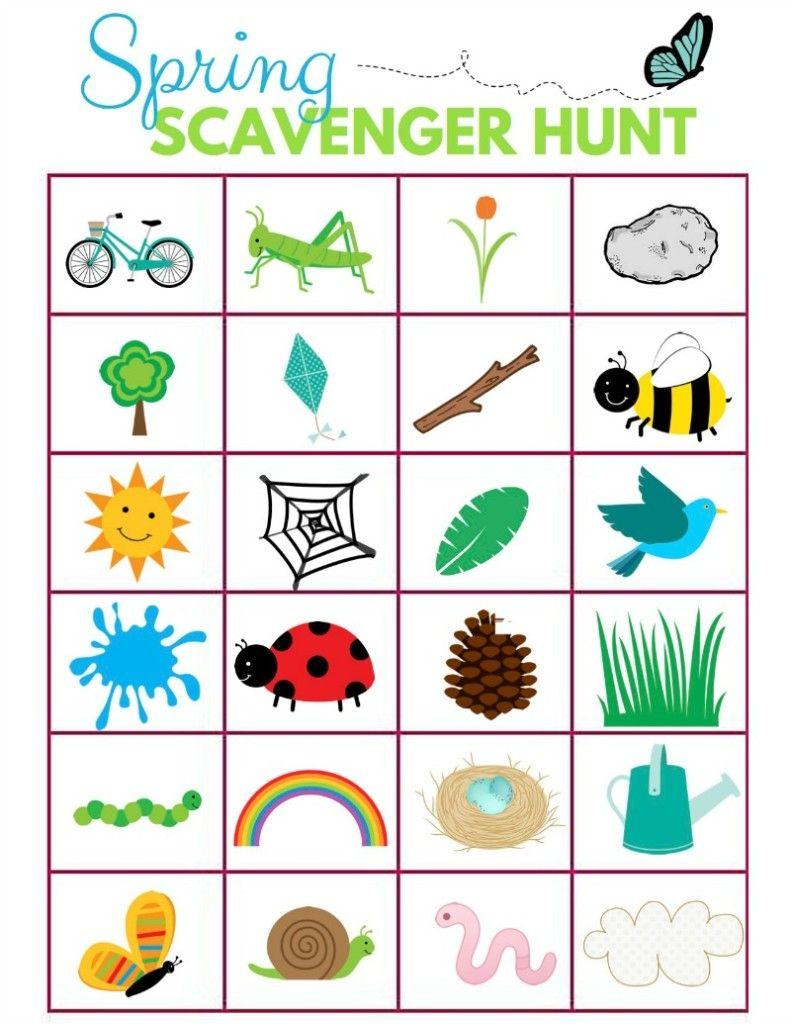Scavenger Hunt Ideas for KidsLet's Get Outside (With