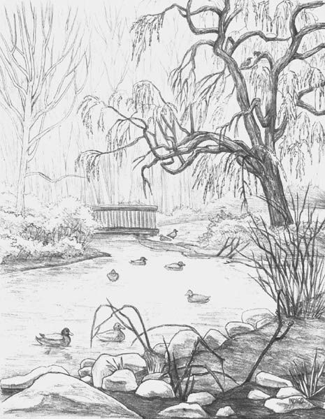 Simple Pencil Sketches Of Landscapes