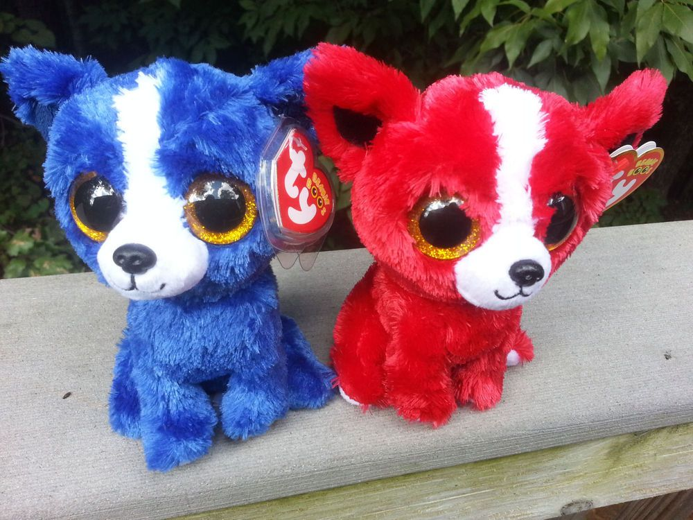 Ty 2014 Beanie Boos Lot 2 T-BONE and TOMATO Show Exclusive NEW Boo FREE SHIPPING #Ty
