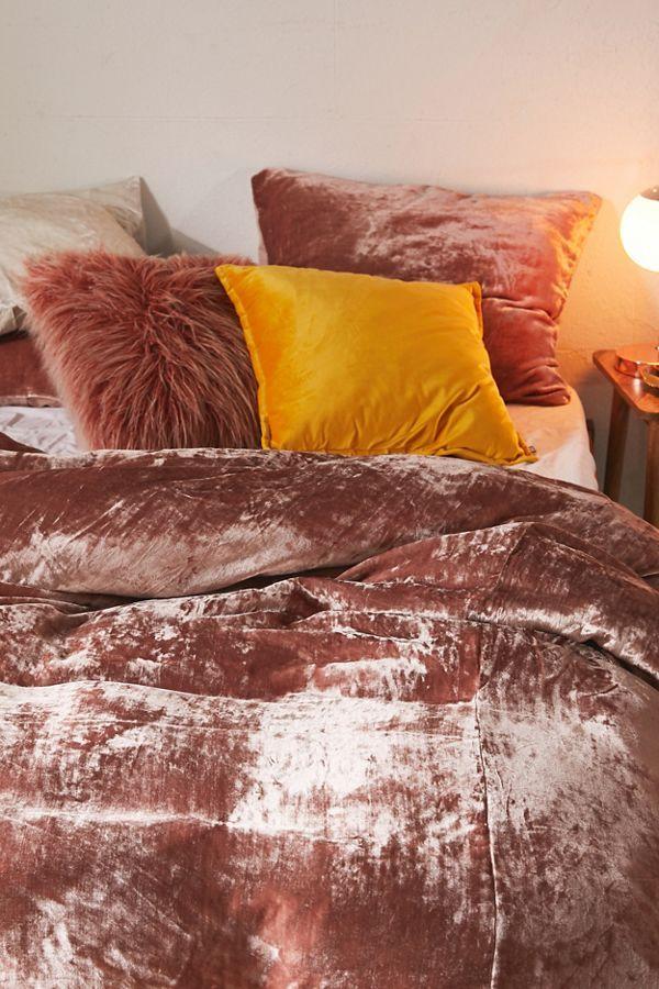 Skye Velvet Duvet Cover In 2021 Velvet Duvet Boho Comforters Comforter Cover