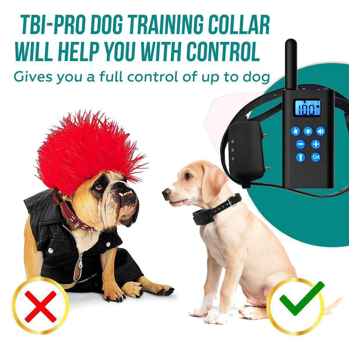 Iokuki Dog Training Collar Remote 1000 Ft Range Rechargeable