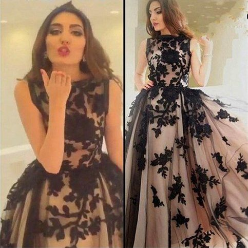 lace prom dress, A-line prom dress,long prom dress, charming prom dress,2017 evening gown,PD00280 from warmthhouse