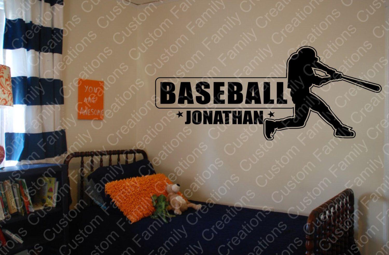 Personalize Baseball Wall Decal Custom Wall DecalCustom Wall - Custom vinyl wall decals removable