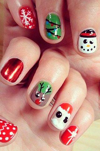Si Y No Llego La Navidad Al Nail Art Pon Tus Unas A Tono Con