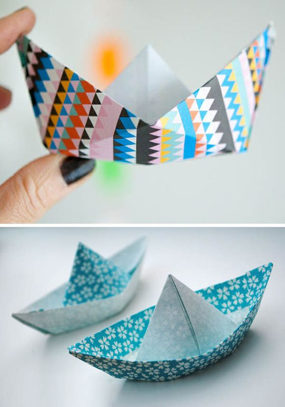Barcos de papel manualidades de papel para hacer con - Manualidades para ninos con papel ...