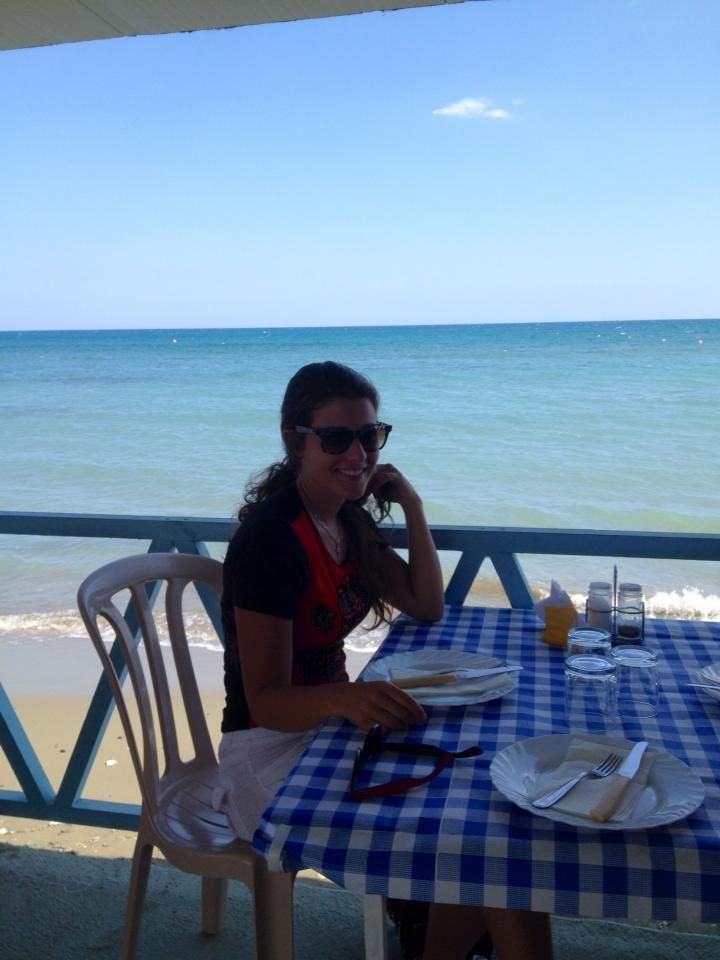 Having amazing sea food by the sea with my family in Larnaca Cyprus, the best island to live and go holiday on