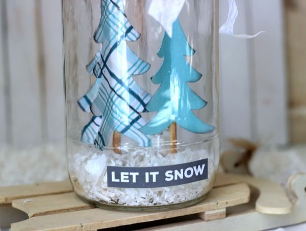 Winter Snow Jar