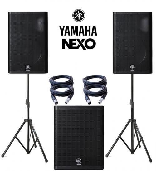 Yamaha Nexo DXR15 & DXS15 Power Pack 3150W Active Sound