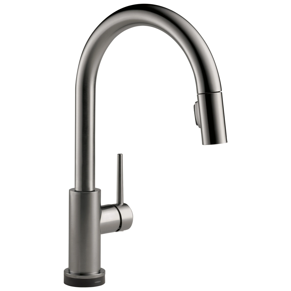 Delta Trinsic Black Stainless Steel Finish Single Handle Pull Down Kitchen Faucet With Touch2o D9159tksdst Faucet Kitchen Faucet Delta Faucets