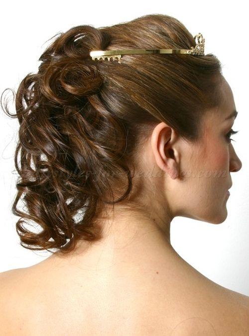 Wedding Hair Down With Veil And Tiara : Wedding tiara bridal tiaras with half updo