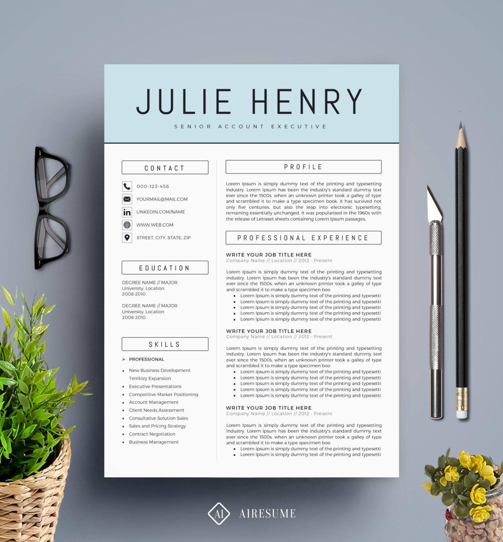 trendy resume templates