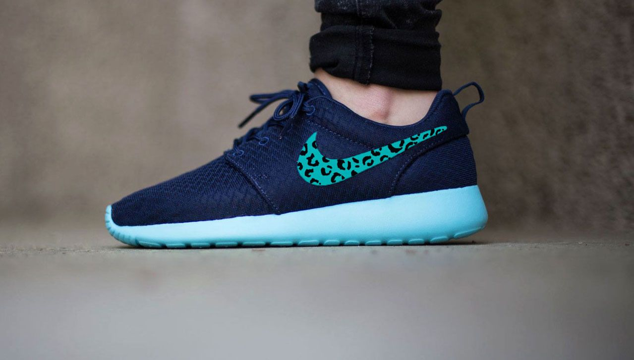 nike roshe run midnight navy black & white bedroom