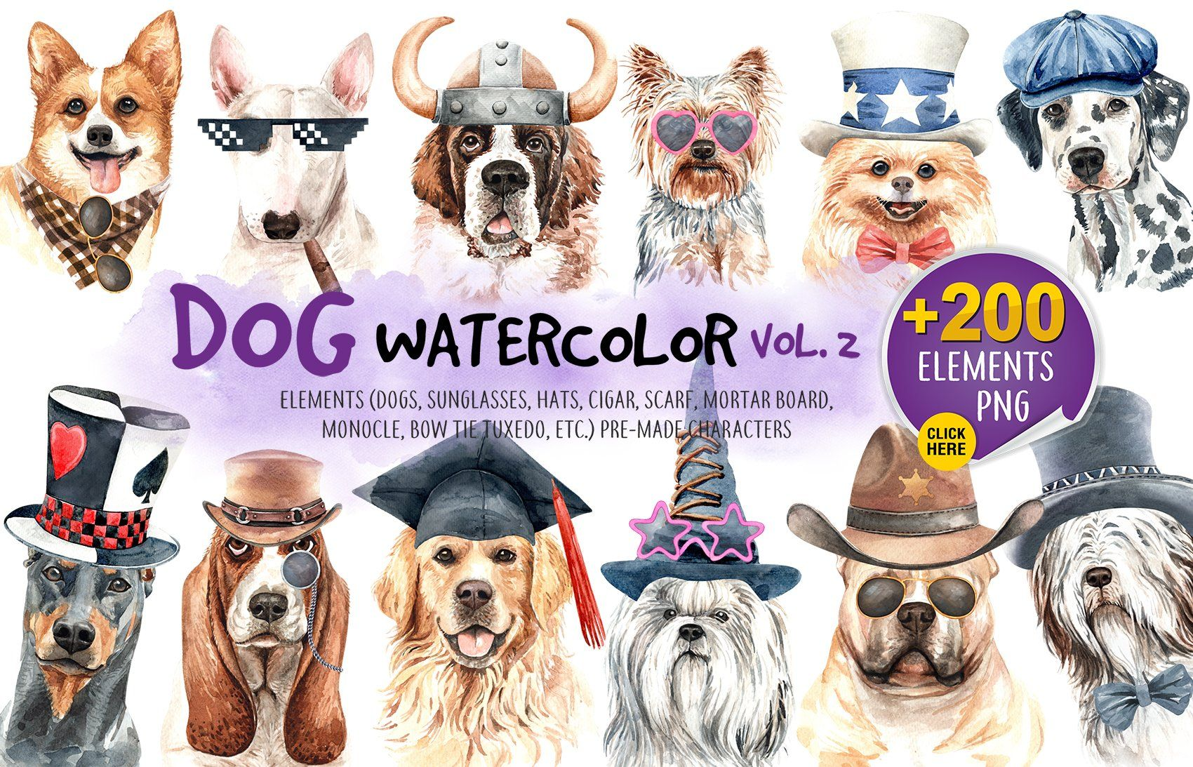 Dog Watercolor Animal Clipart Aff Tie Tuxedo Top Bow Ad