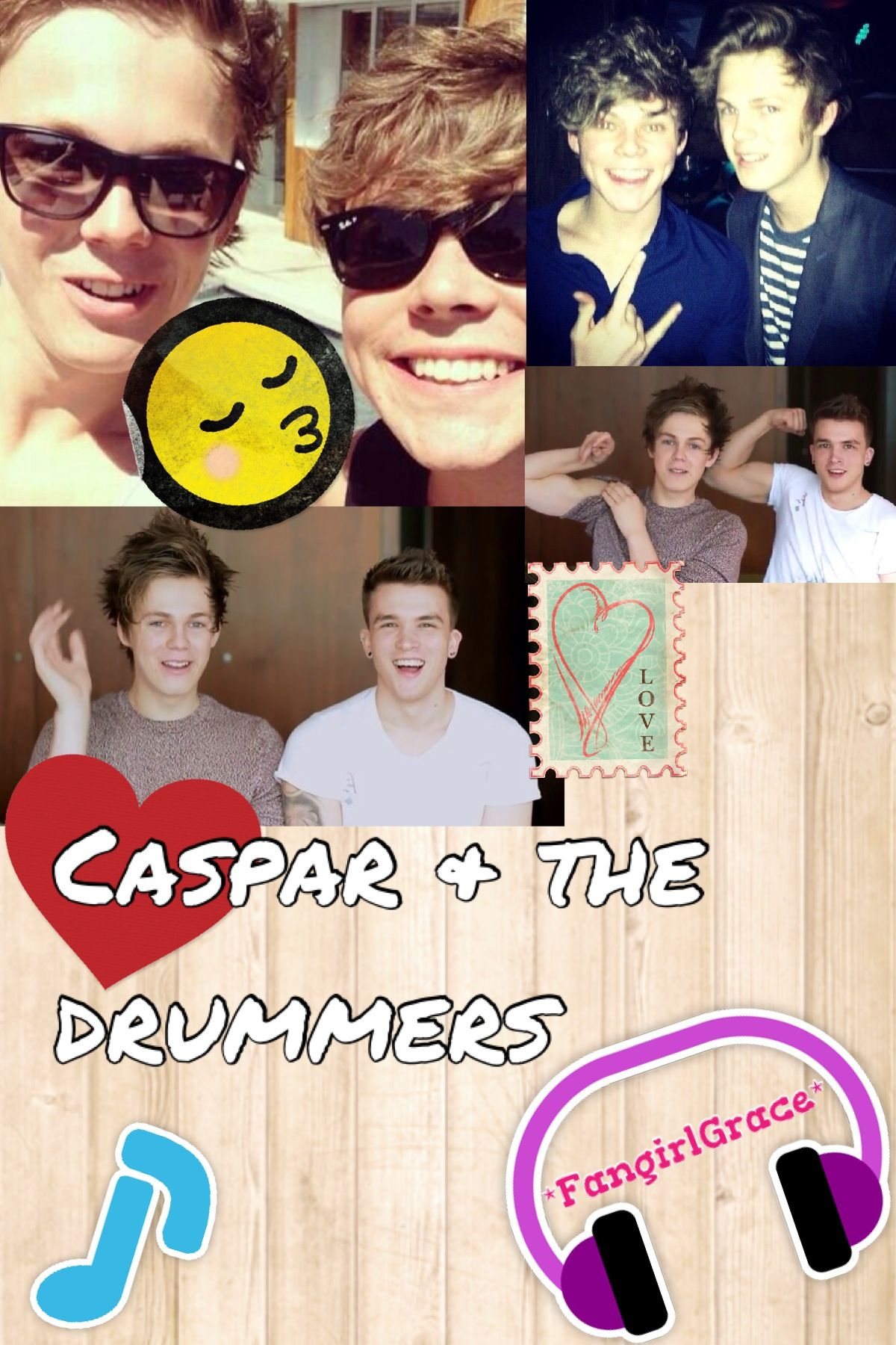I Think Hes Into Drummers Haha Idk I Just Made This Lol Xxgrace Caspar Lee Josh Devine One Direction Ashton Irwin 5sos