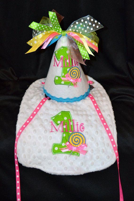 1st Birthday Party Lollipop Sweet Shop Hat by sunshinedaydream4u
