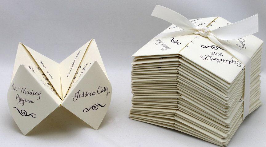 Cootie Catcher Wedding Invitation: Cootie Catcher / Fortune Tellers