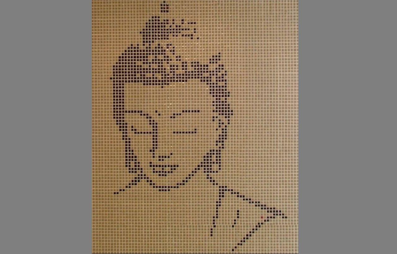 Tableau Mosaique Personnalisé bouddha salle de bain baignoire douche carrelage mosaic mosaique
