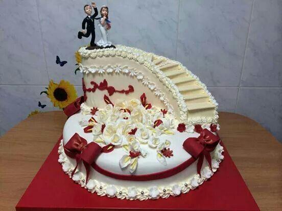 Criatividade A Toda Prova Red Wedding CakesWedding Cake DesignsWedding IdeasCustom CakesCake ArtSweet TreatsAmazing CakesFood Network TrishaStyle