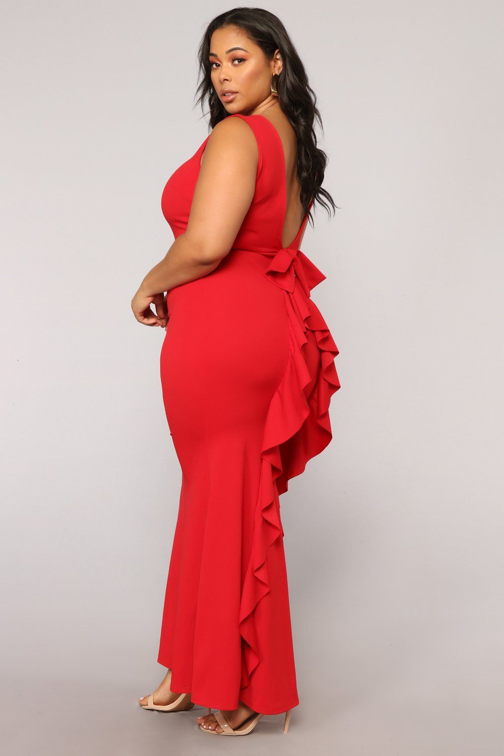 Such A Lady Ruffle Dress Red Red dress, Plus size