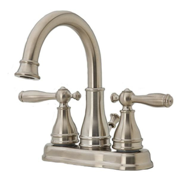 Pfister Sonterra Brushed Nickel 2-Handle 4-In Centerset WaterSense ...