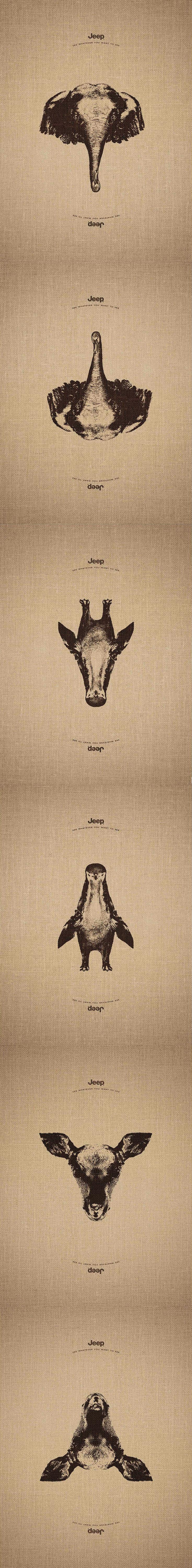 #Brand: #Jeep See whatever you want to see. #Advertising Agency: Leo Burnett, France #ads #creative #creativity #pub #publicité #leoburnett