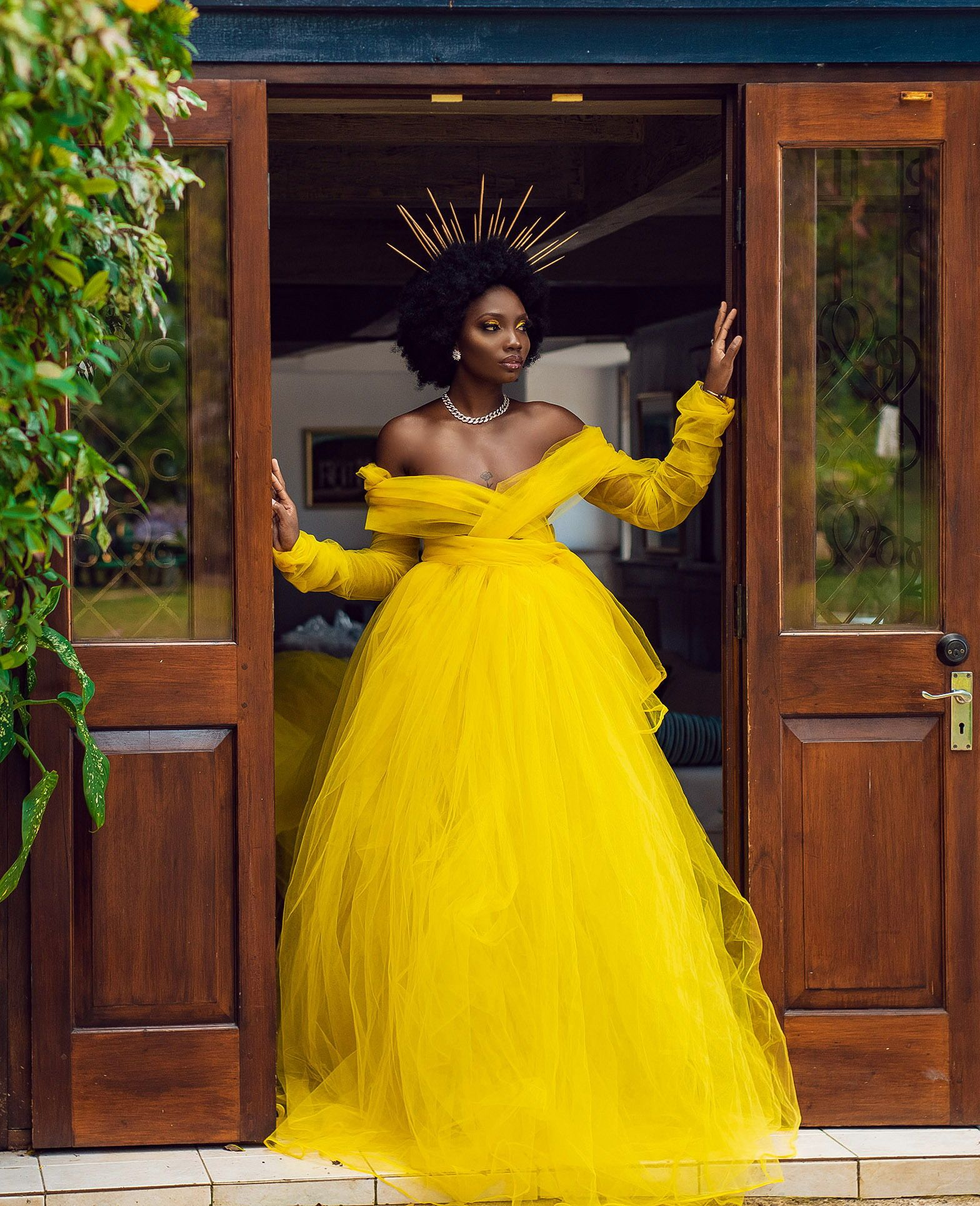 Opulent Yellow Wedding Dress   Yellow wedding dress, African ...