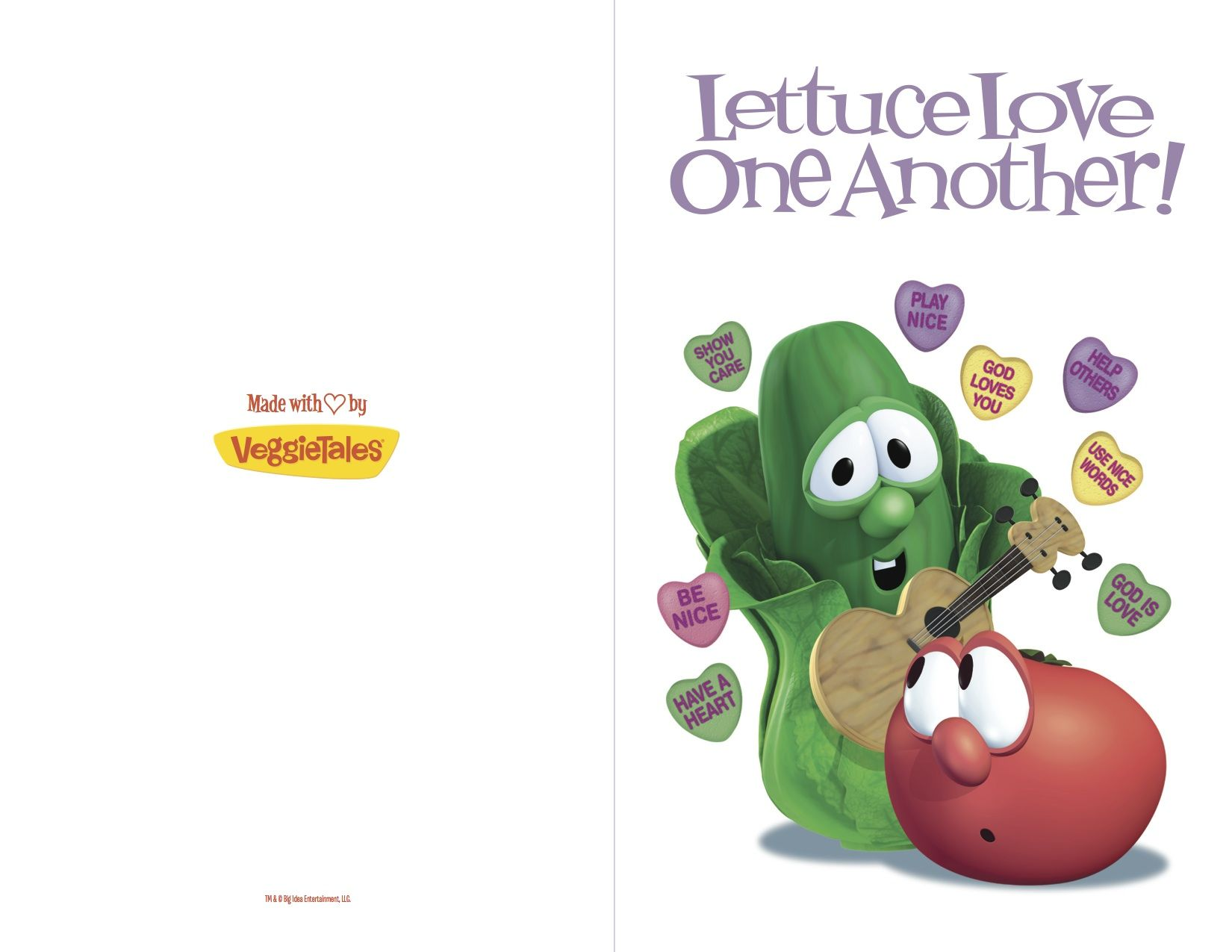 Valentines Day Card Love Veggietales