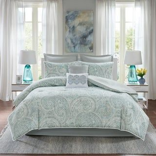 Comfort Spaces Noami 8 Piece Comforter Set (California King - Purple)