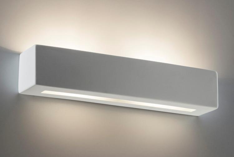 Applique in gesso lampada a parete moderno attacco g doppio