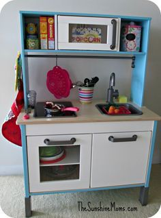 Blue Frame | Toy Makeovers | Pinterest | Ikea toy kitchen and Kitchens