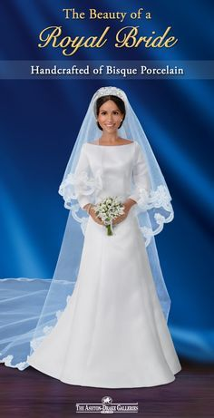 The Meghan Markle Royal Wedding Porcelain Bride Doll #bridedolls