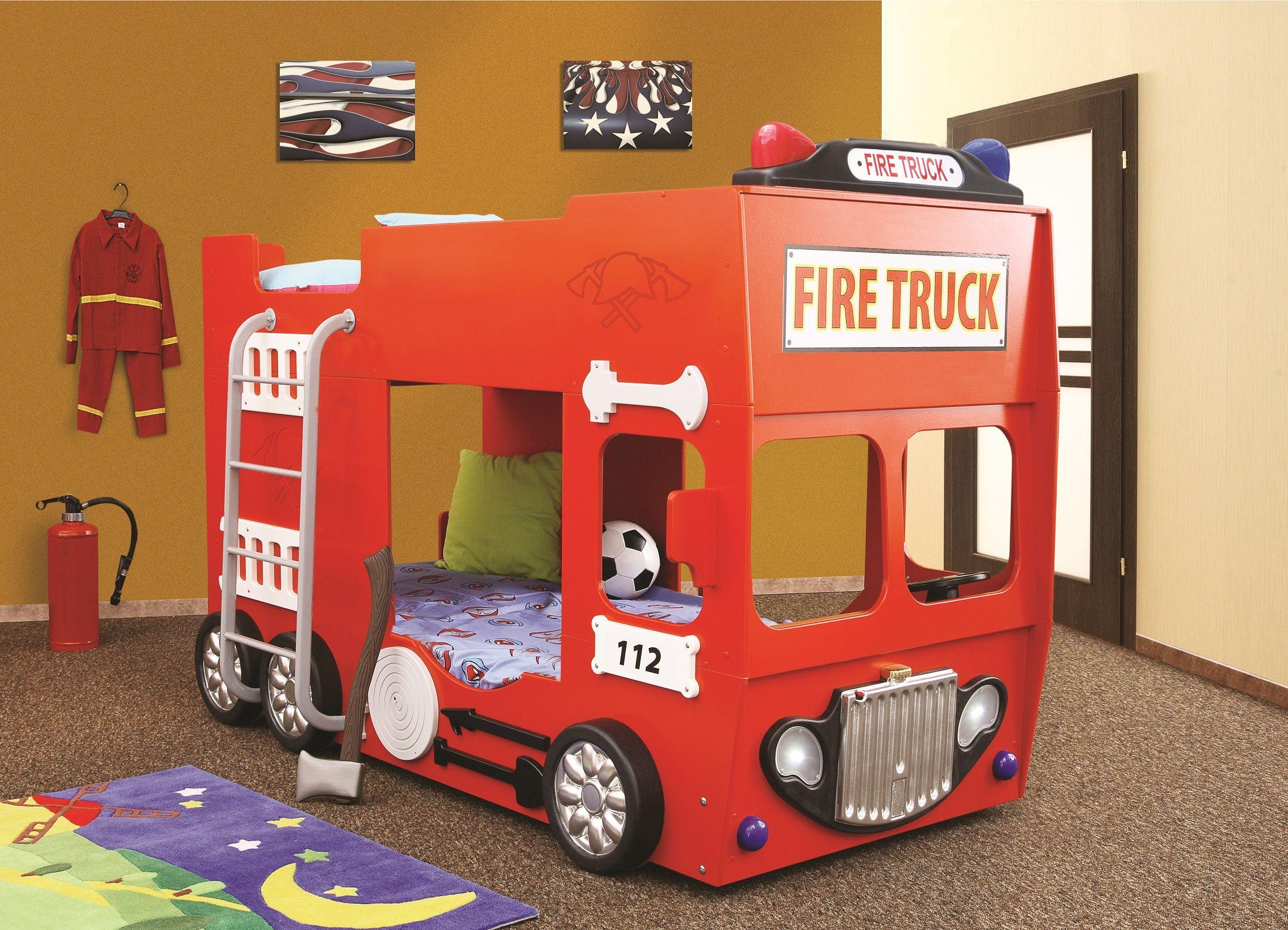 Kinder Etagenbett Bus : Feuerwehrbett etagenbett ein traum in rot. #etagenbett #kinder