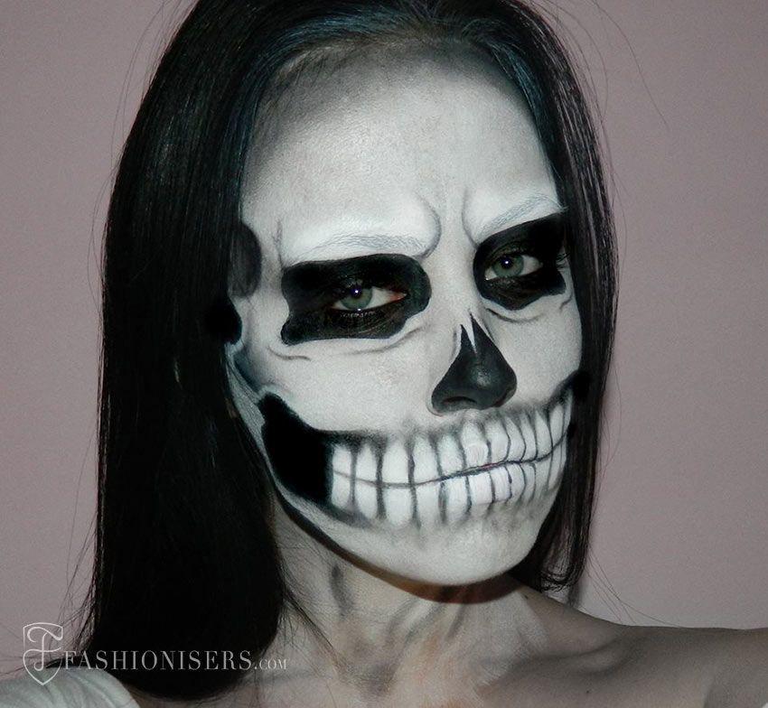 Lady Gaga Inspired Halloween Skull Makeup Tutorial ...