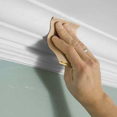 Sand Down The Excess Joint Compound Once It Dries Easy Crown Molding Moldings And Trim Molding Installation