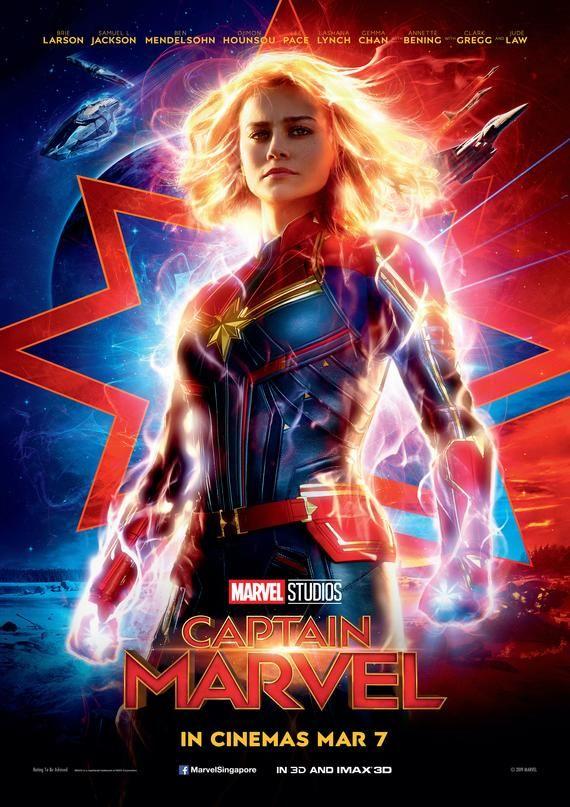 Captain Marvel Superhero Cover Movie Poster
