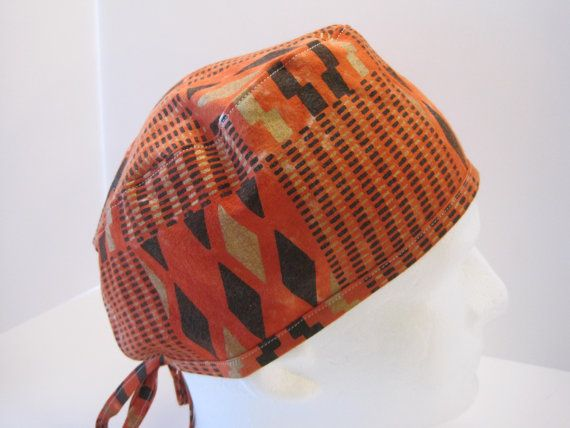 African Print Minimal Traditional Srub Hat, surgical scrub hat, surgical technologist hat, great nurse gift